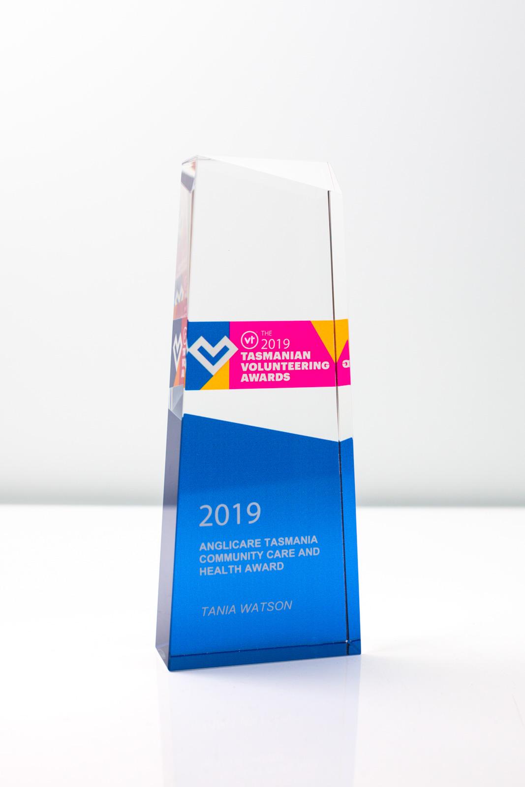 Tasmanian Volunteering Awards Crystal