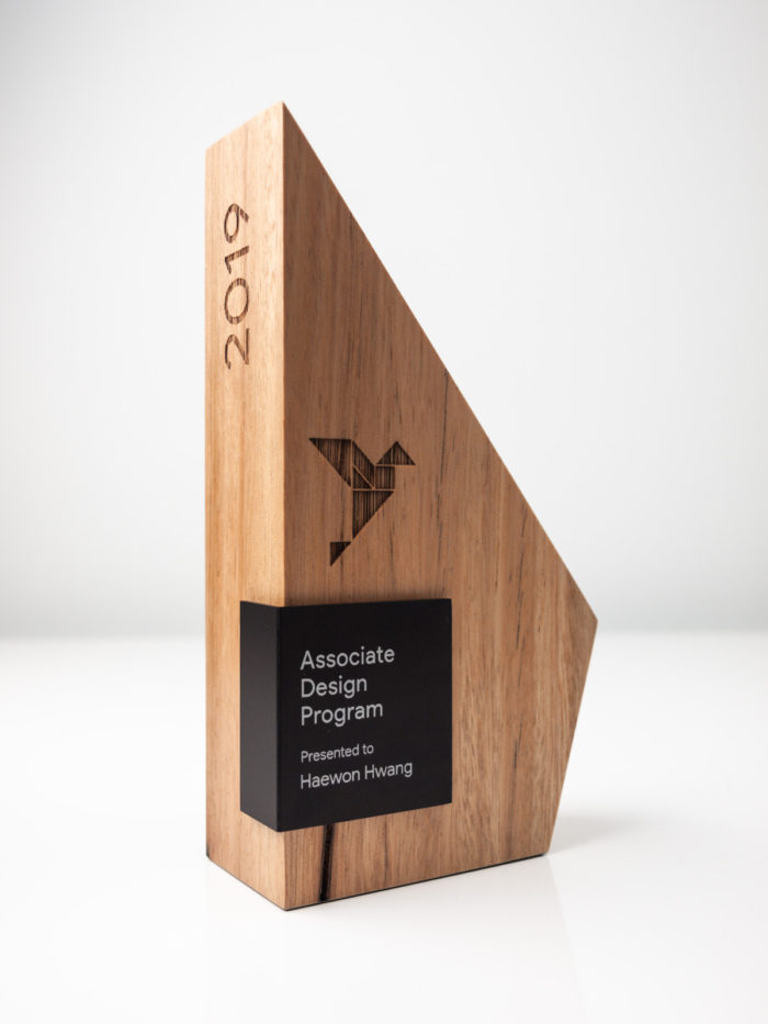The Google Associate Design Program Sustainable Trophies