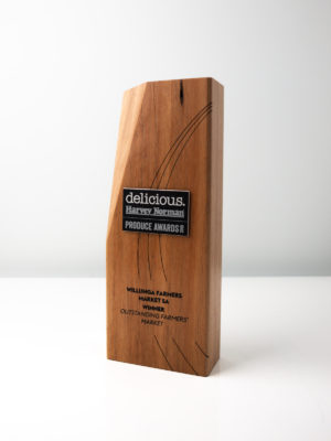 Delicious Harvey Norman Produce Awards - Sustainable Trophies