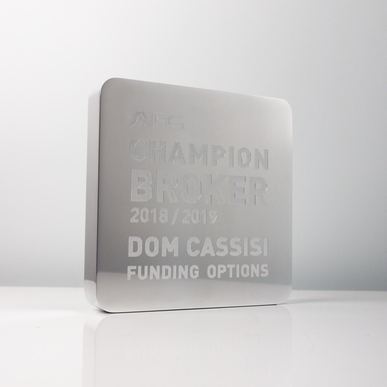 AFG Champion Broker Award Trophy