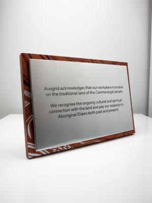 Ausgrid Acknowledgement of Country Plaque