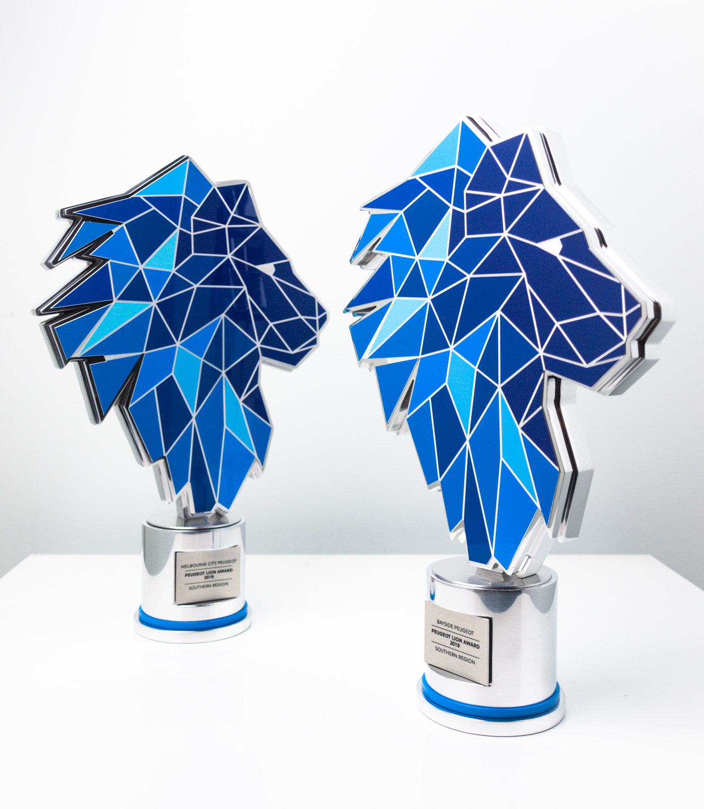The Peugeot Dealer of the Year Award Trophies