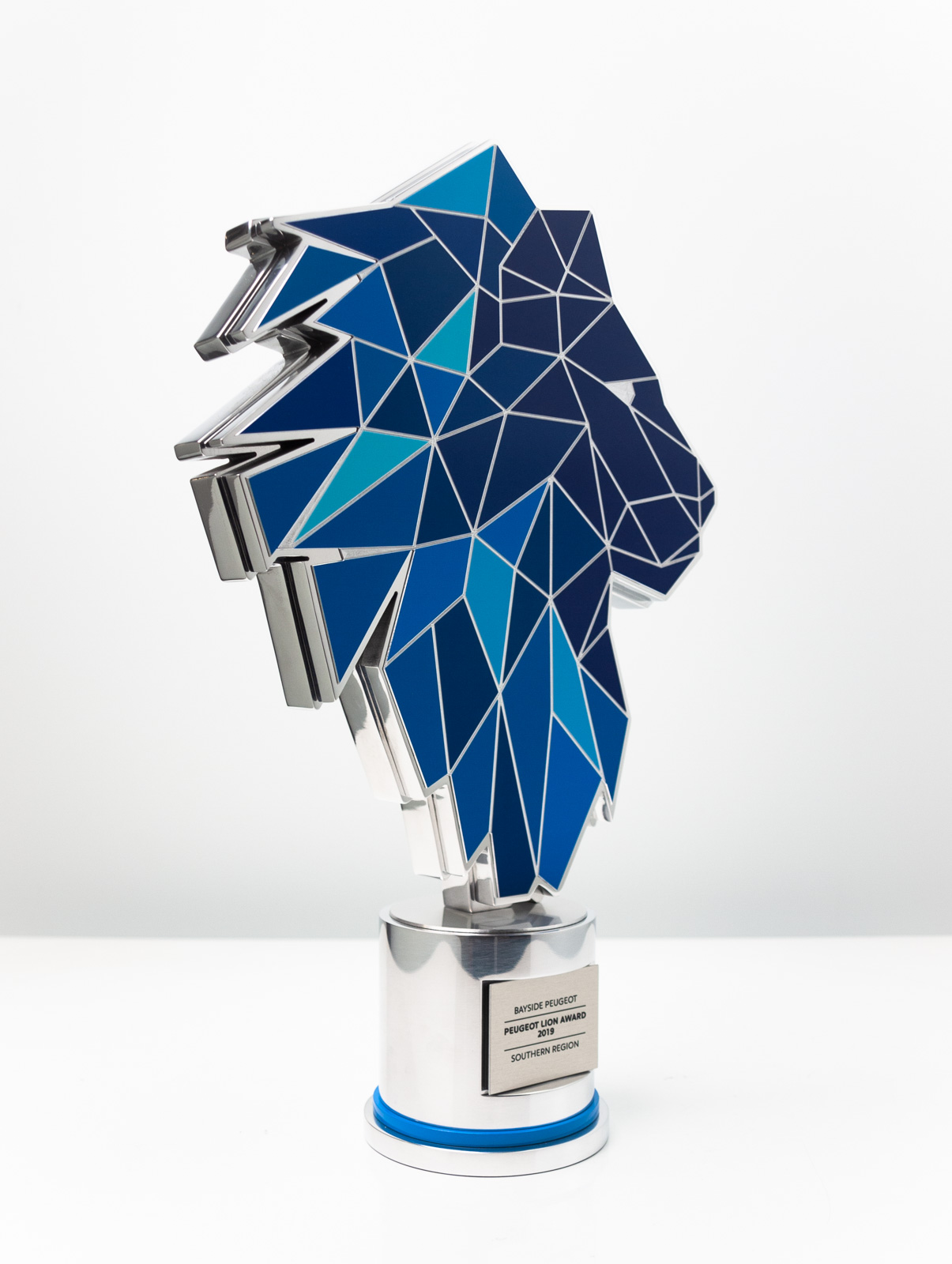 The Peugeot Dealer of the Year Award Trophy