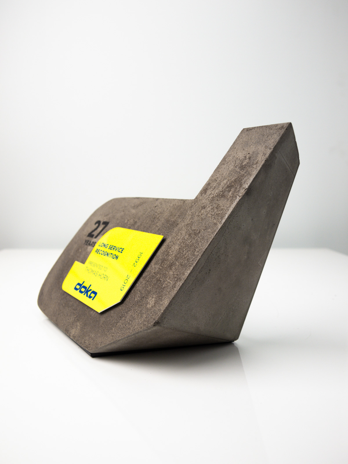 DOKA Long Service Recognition Concrete Trophies