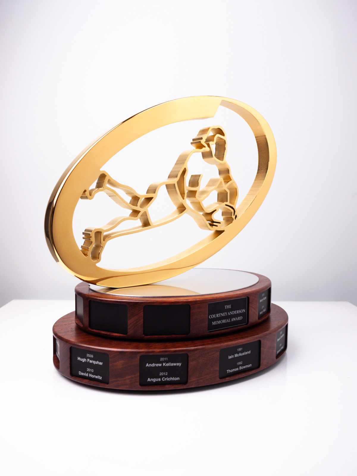 The Courtney Anderson Memorial Award Scots College Football Trophy