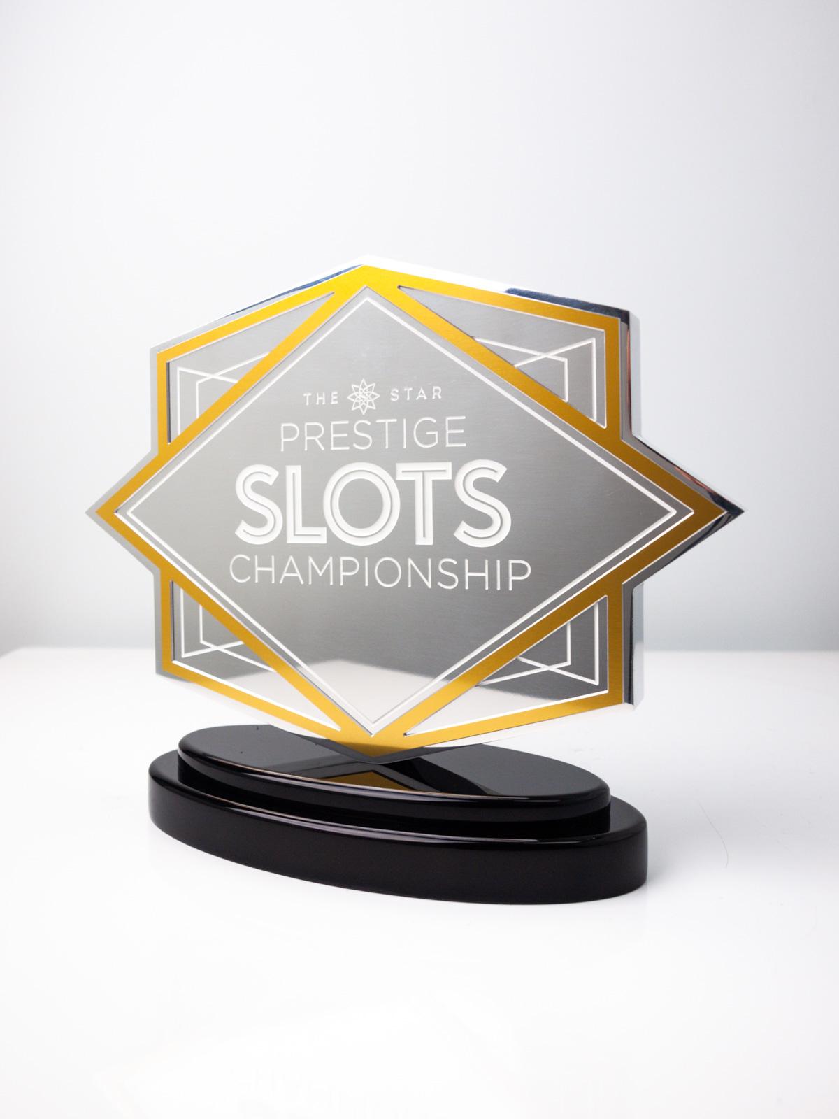 The Star Prestige Slots Championship Custom Trophy