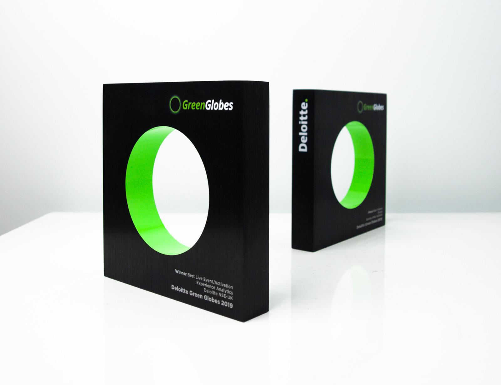 Deloitte Green Globe Trophies