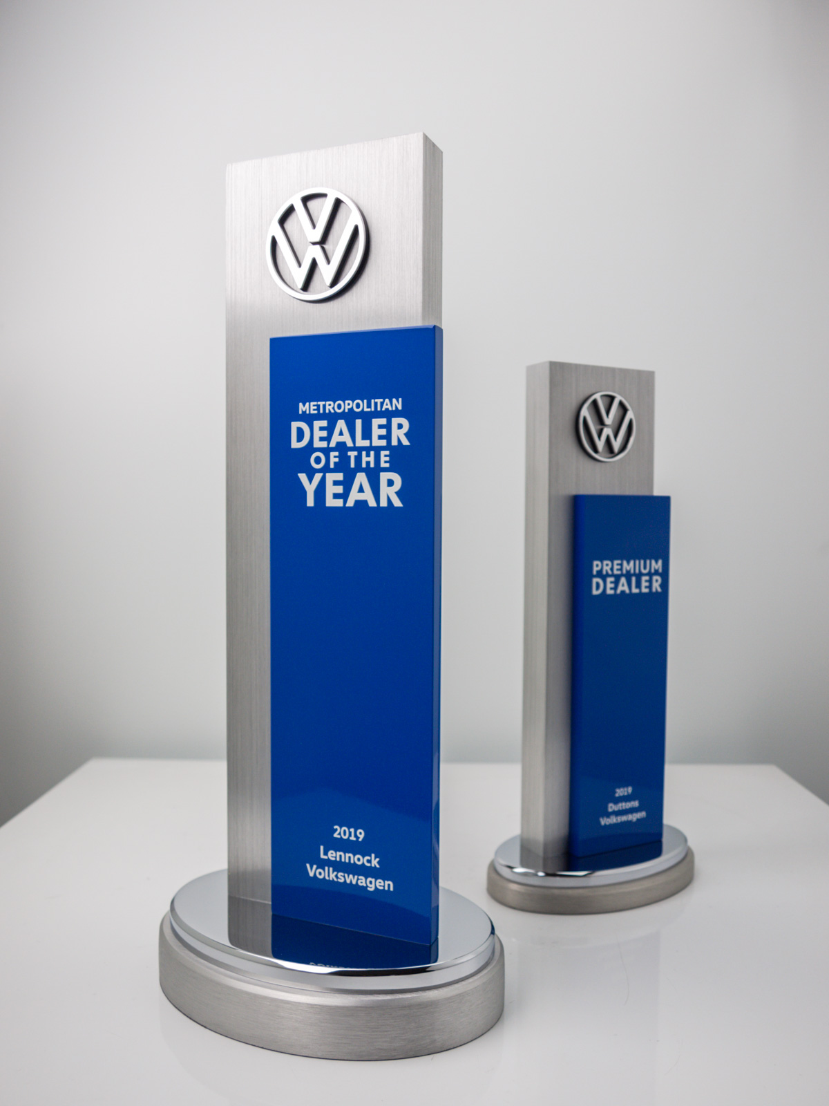 Volkswagen Dealer of the Year Award Trophies