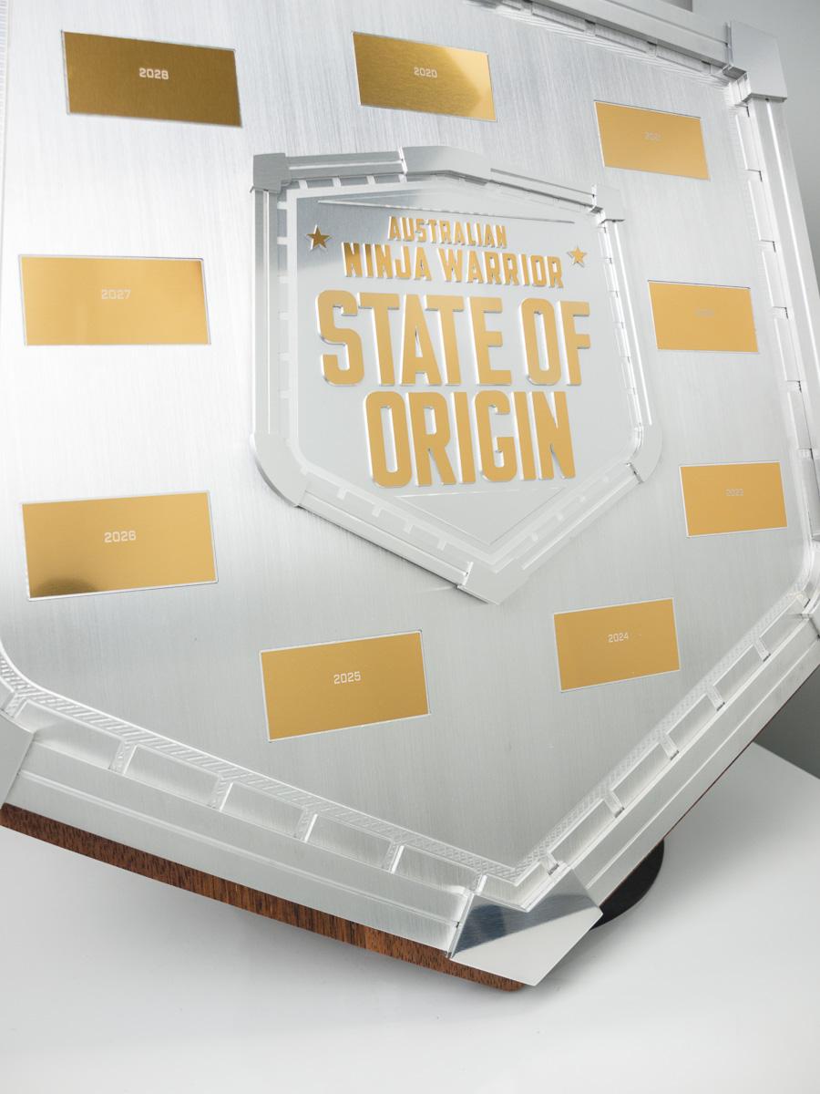 Australian Ninja Warrior State of Origin Perpetual Plaque Detail