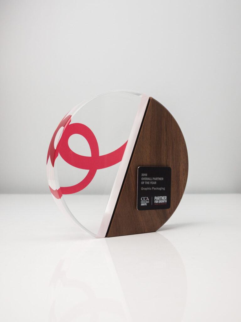 Coca Cola Amatil Custom Award Trophies