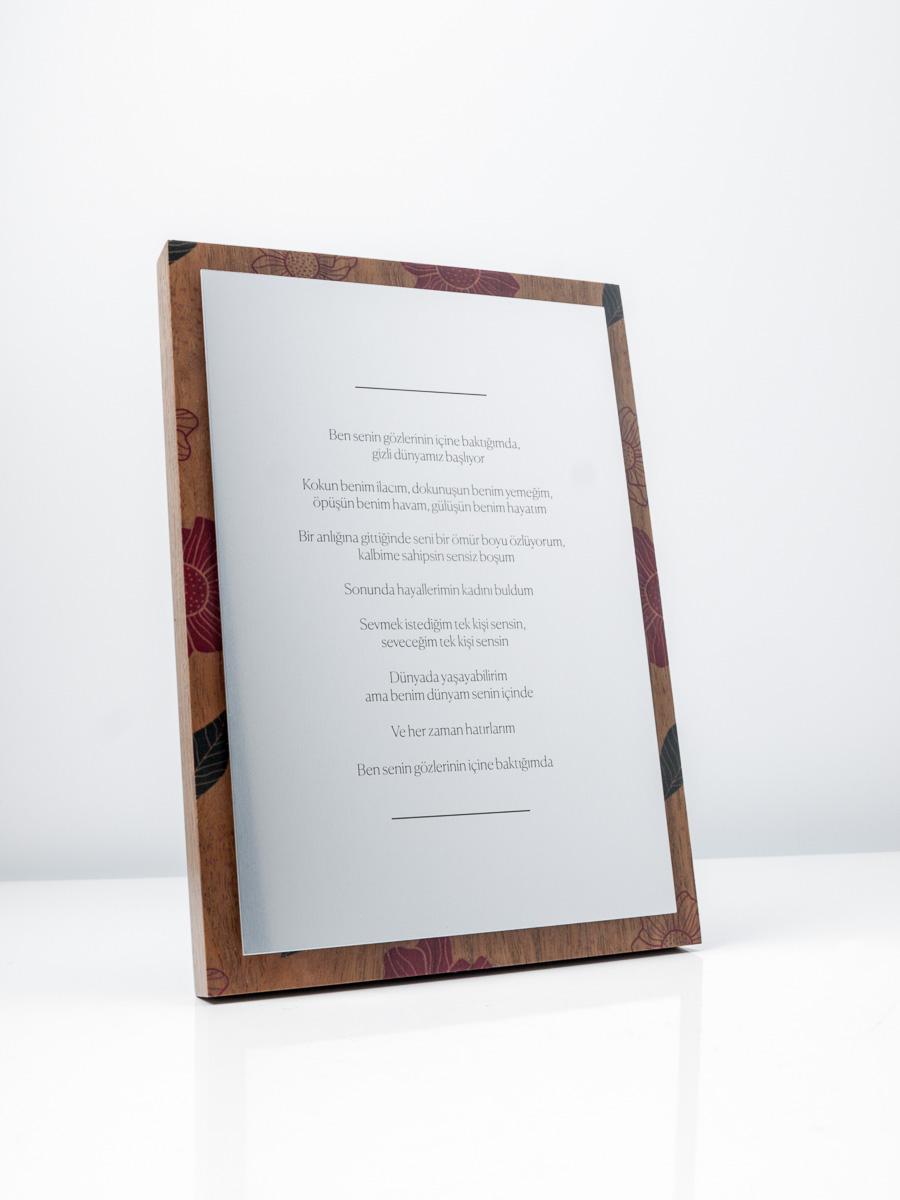 Poem Sustainable Plaque