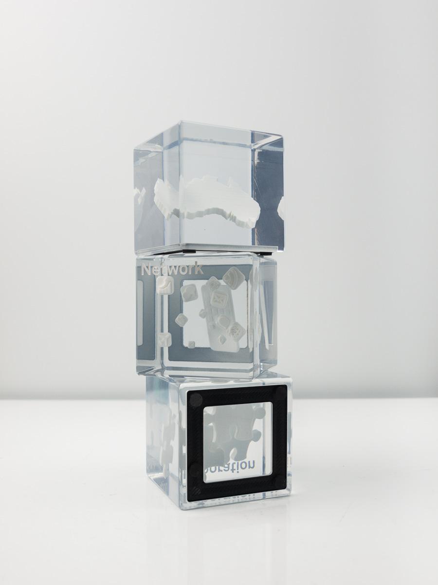 Telstra Custom Blocks Resin Embedded