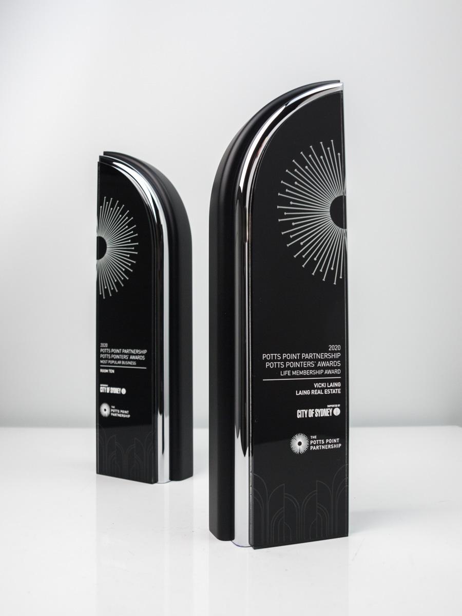 The Potts Point Partnership Award Trophies