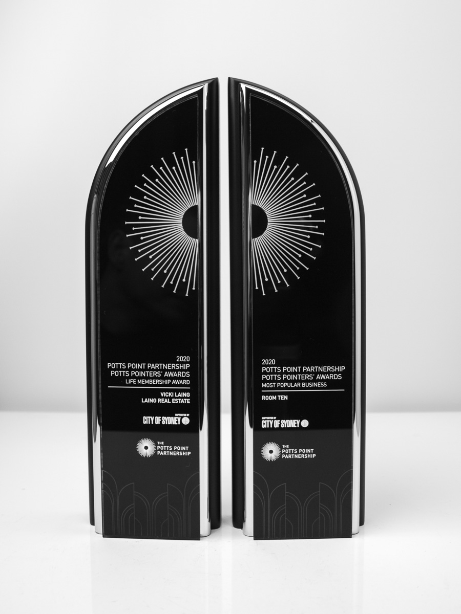 The Potts Point Partnership Custom Award Trophies