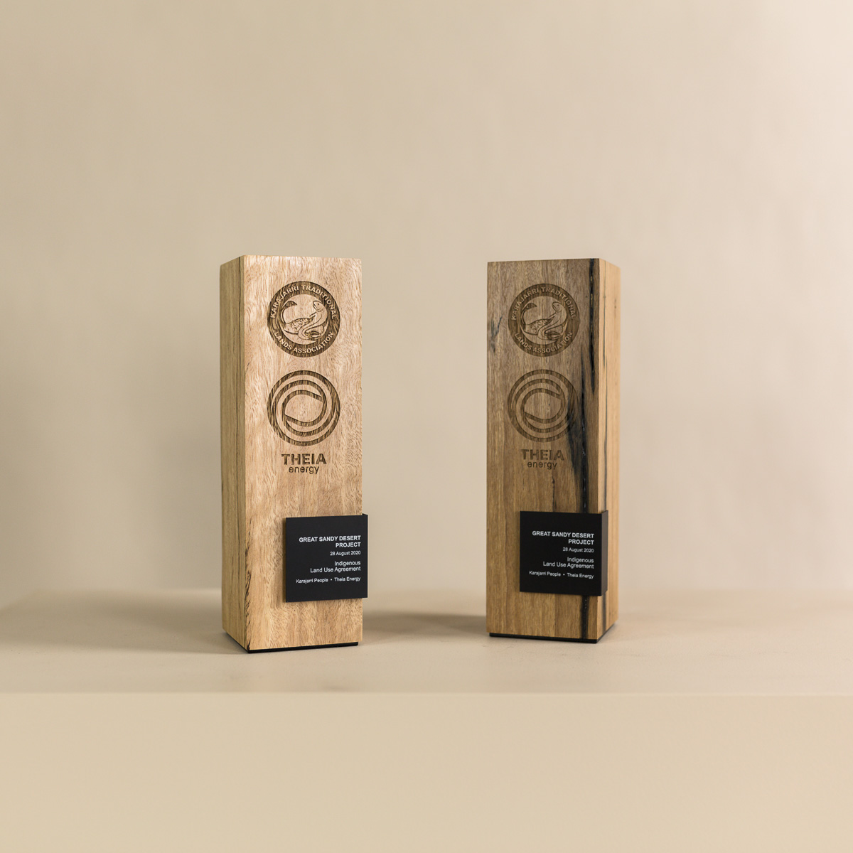 The Theia Energy Sustainable Award Trophies