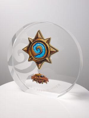 The Hearthstone Scholomance Academy Award Trophy