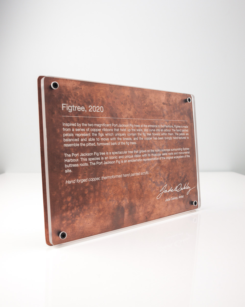 Jade Oakley Artist Copper Plaque