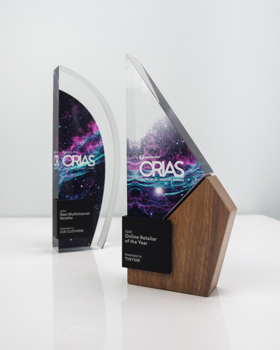 The Online Retail Industry Custom Awards Trophies