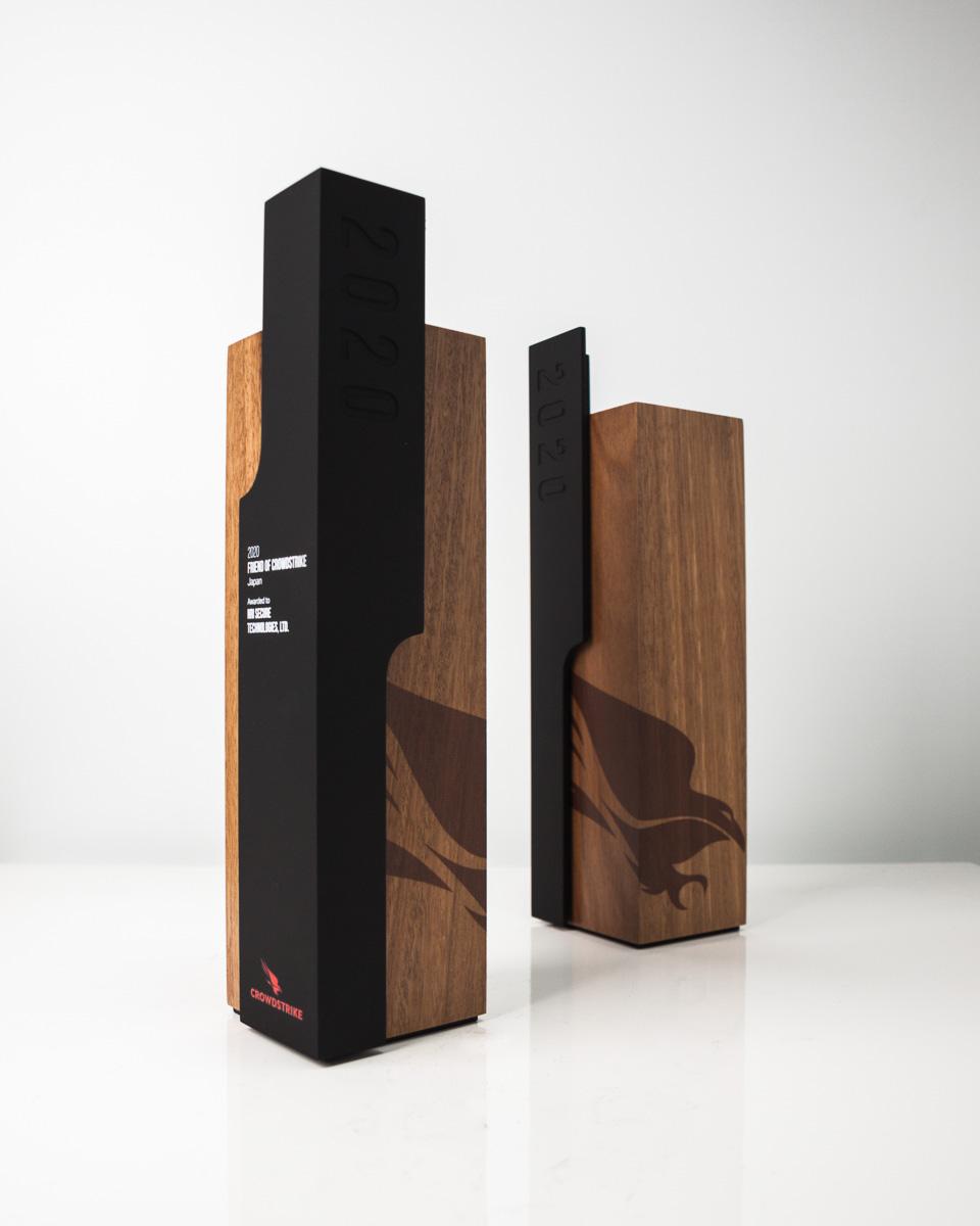 Crowdstrike Custom Sustainable Award Trophies