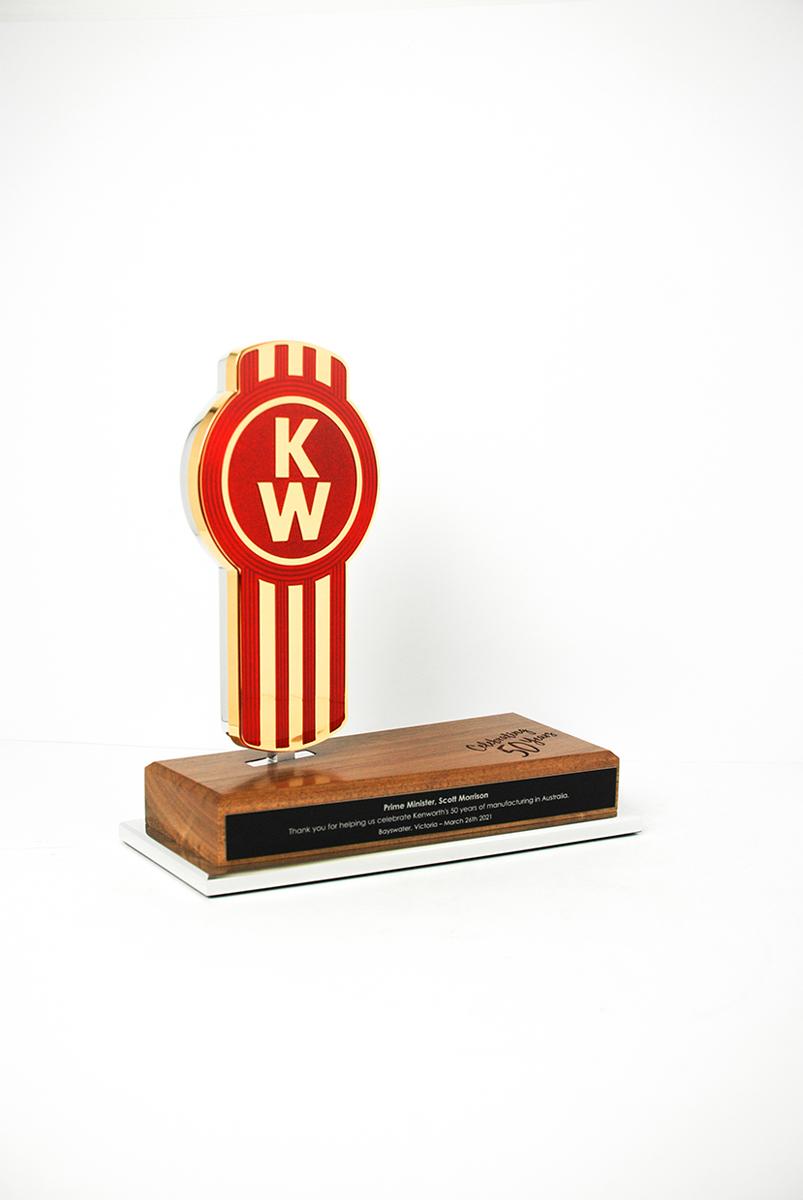 Kenworth Golden Bug Custom Commemorative Award