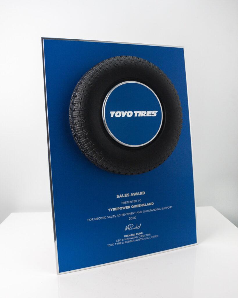 Toyo Tyres Sales Award Plaque