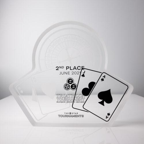 The Star Triathlon Competition Cards Acrylic Award